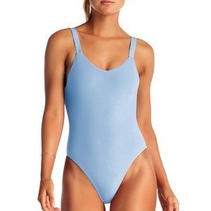 VITAMIN A Leah Cielo Rib One Piece Swimsuit 76M